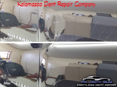 Image of Fender dent repaired by Mi Dent Guy a Kalamazoo Dent Repair Company