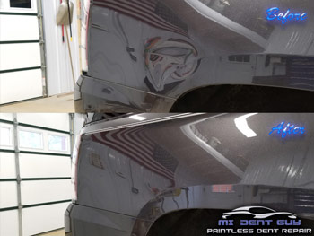 image of quality repairs guaranteed mi dent gut paintless dent repair